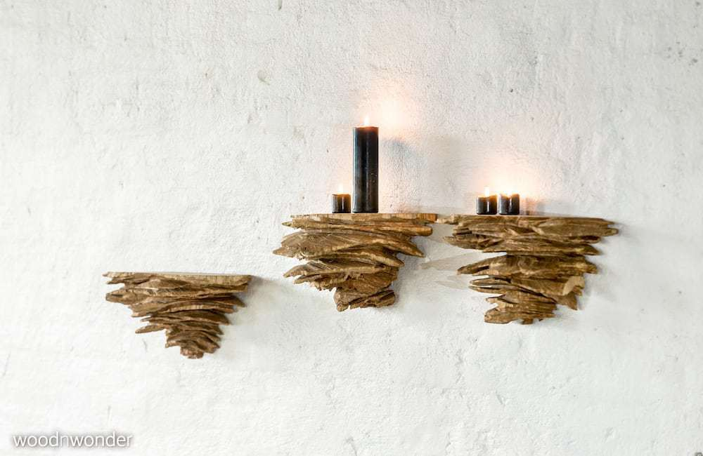 floating shelves made of wood