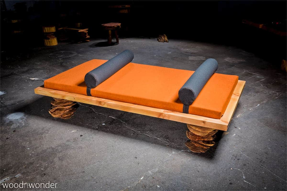 day bed made of wood